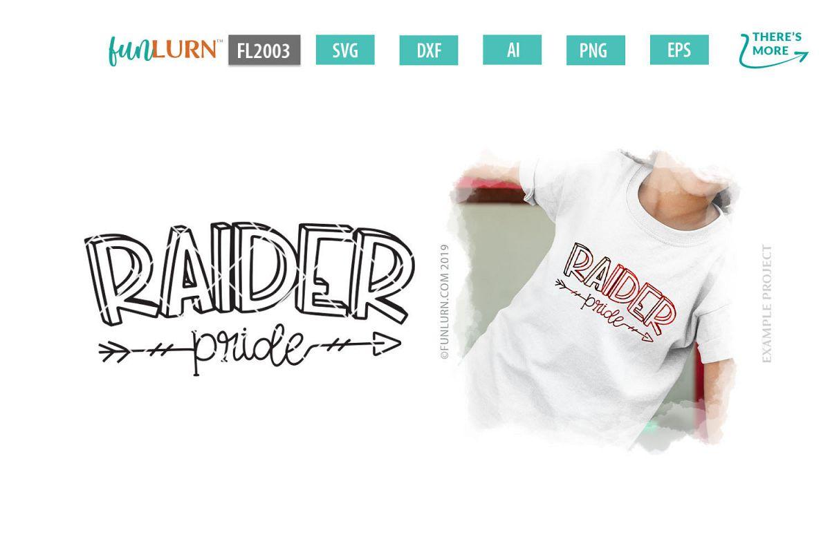 Raider Pride Team SVG Cut File example image 1