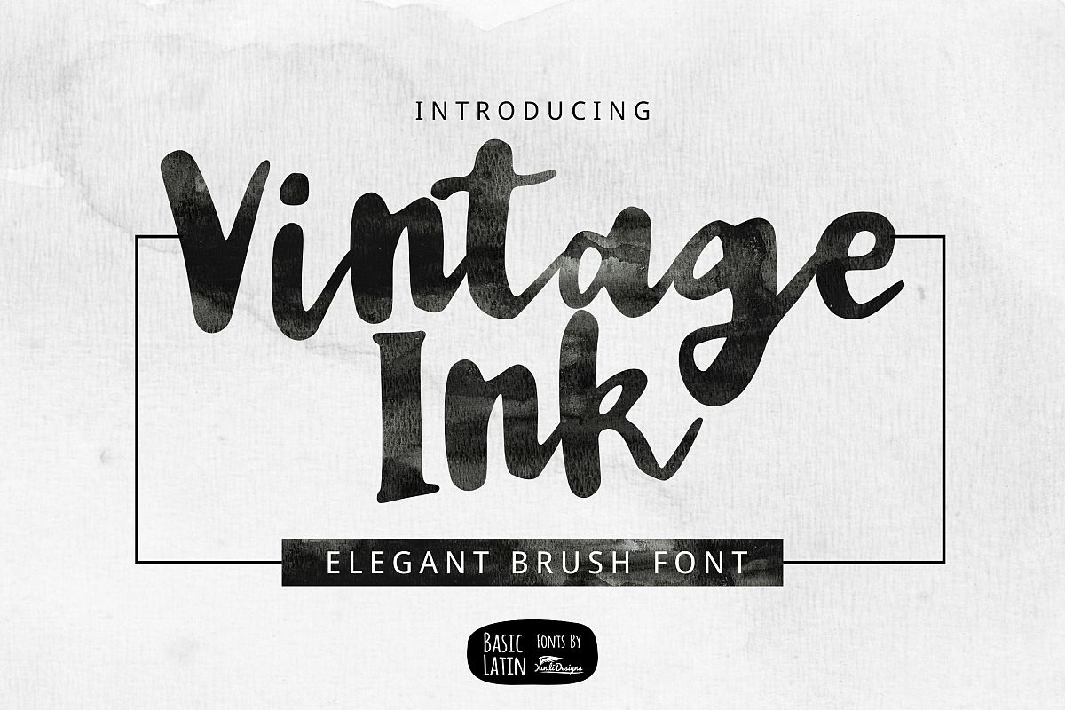 Vintage Ink Brush Font example image 1