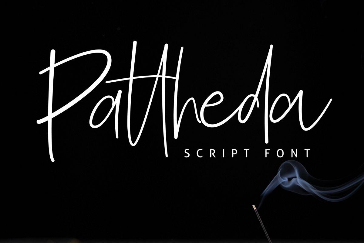Pattheda Script example image 1