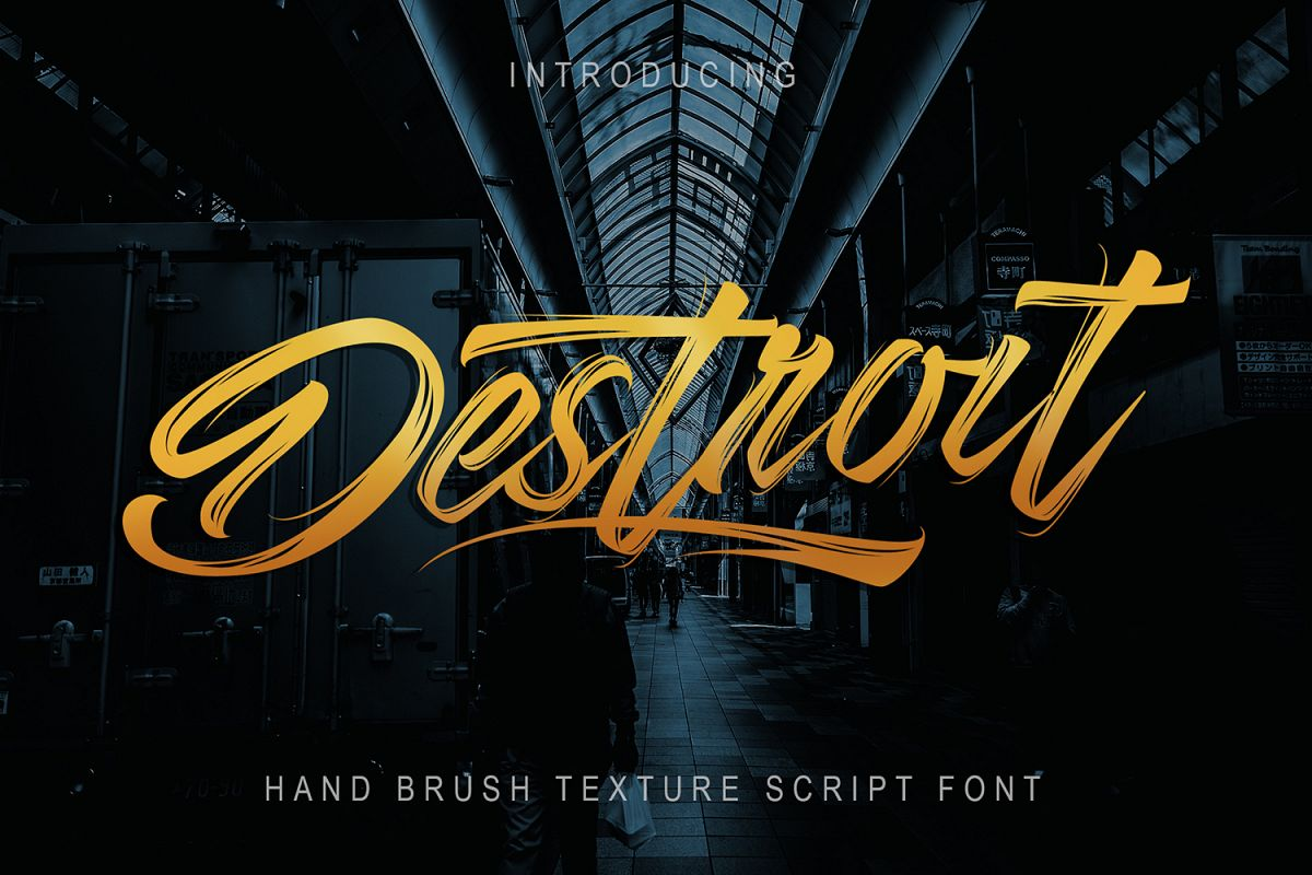 Destroit | Hand Brush Texture example image 1