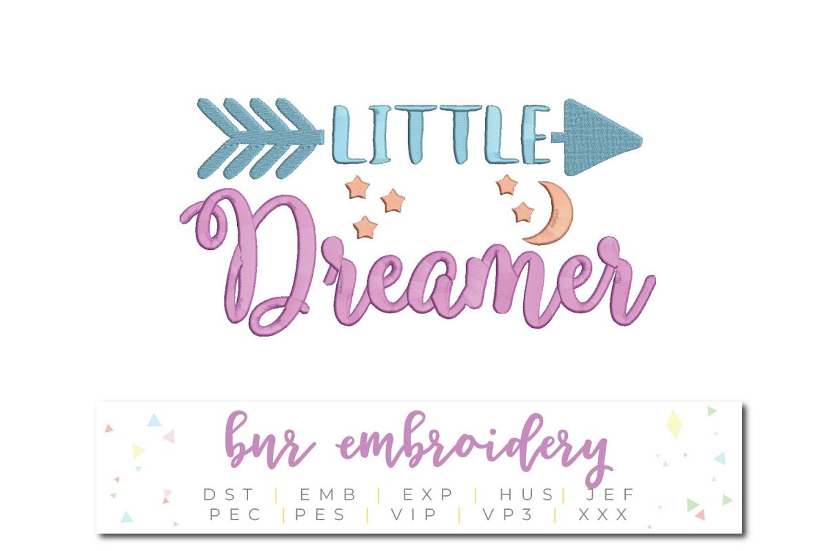 Little Dreamer Machine Embroidery Design example image 1