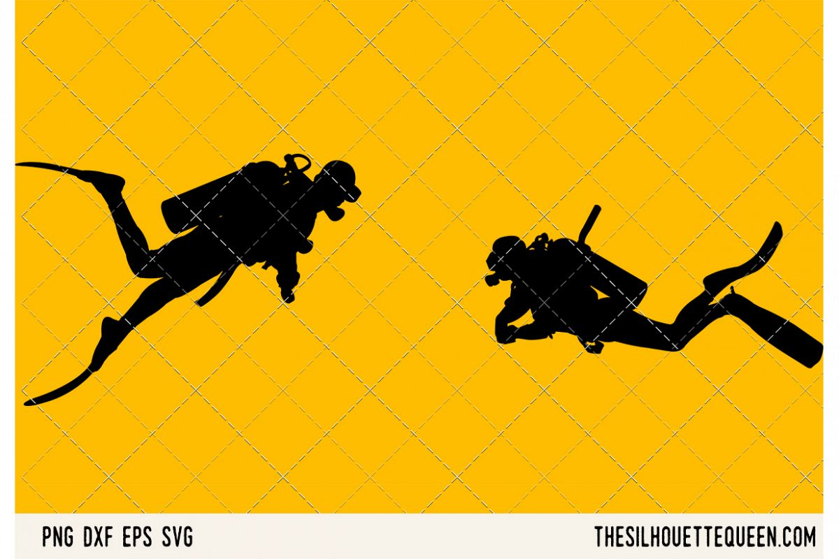 Scuba diving SVG example image 1