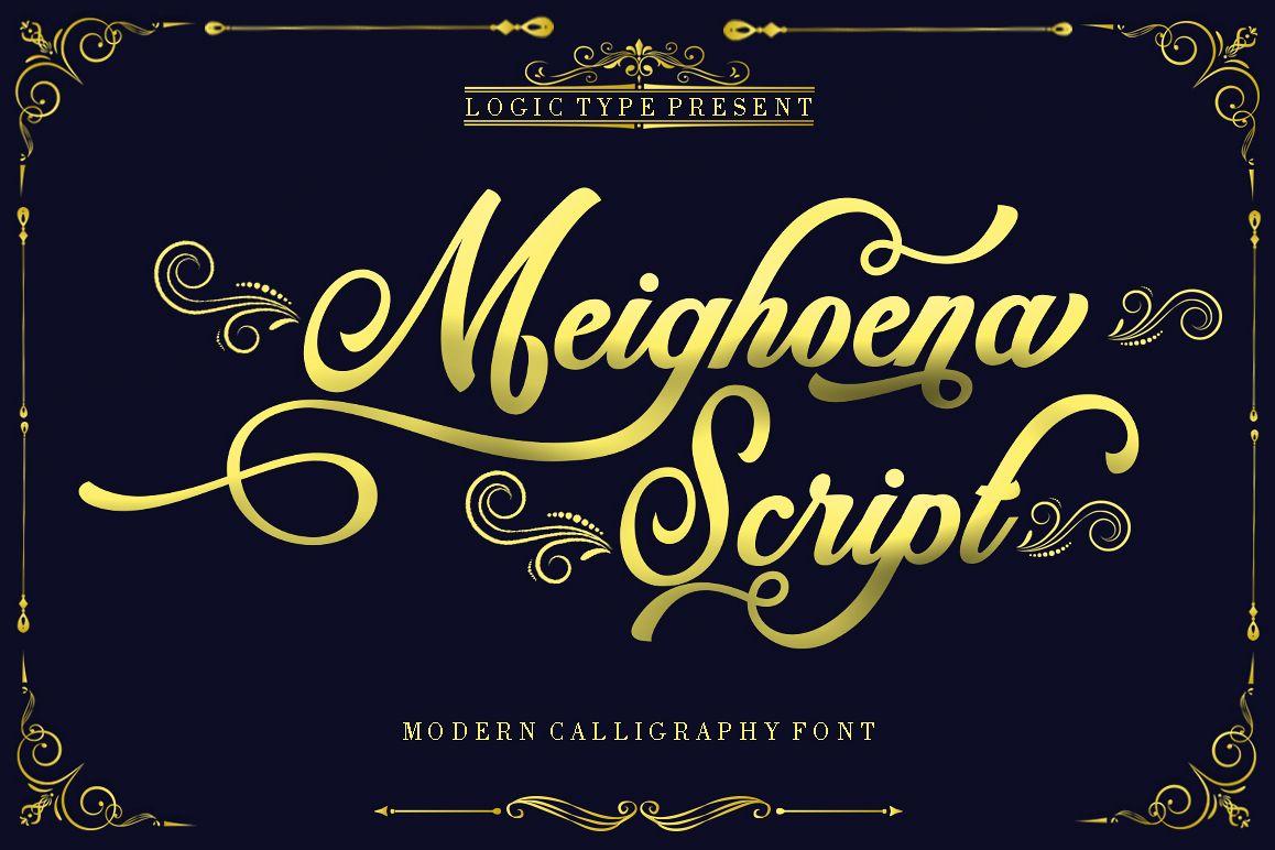 Meighoena Script example image 1
