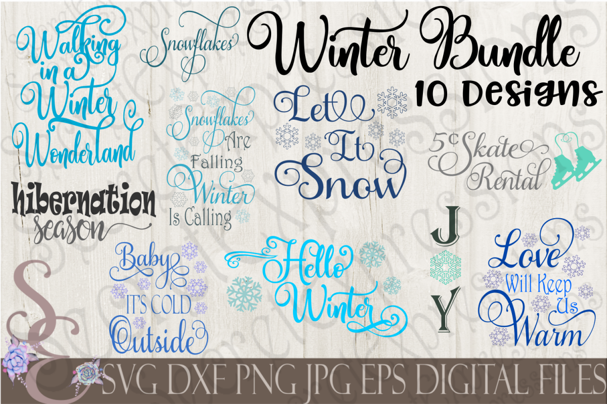Winter SVG Bundle 10 Designs example image 1