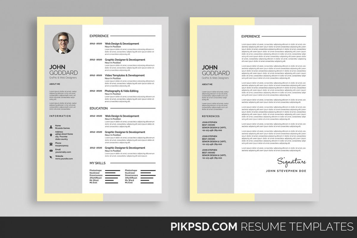 Material Design Resume Cv Set 51677 Resume Templates Design