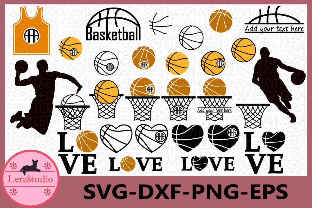 Basketball Svg, Basketball Silhouette, Silhouette Studio example image 1