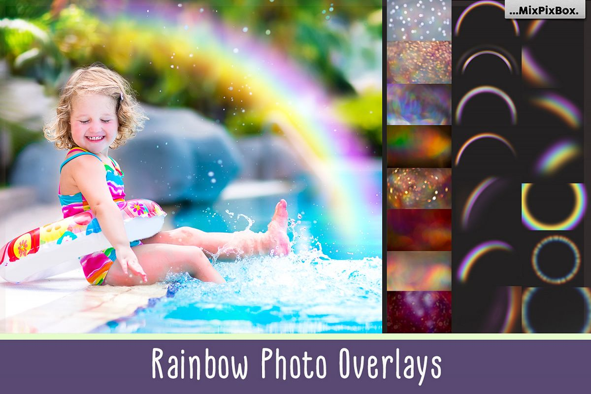 Rainbow overlays and textures example image 1