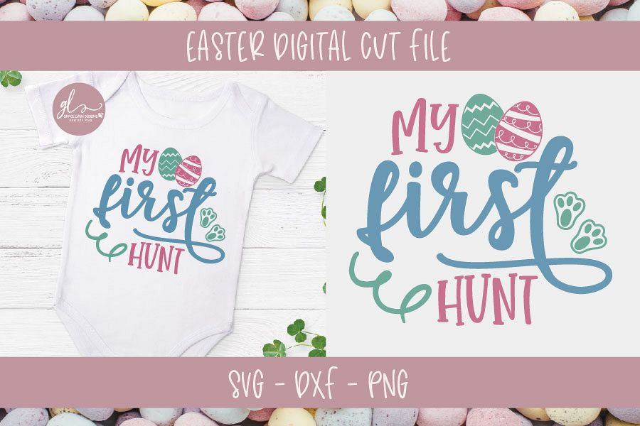 My First Hunt - Easter SVG Cut File example image 1