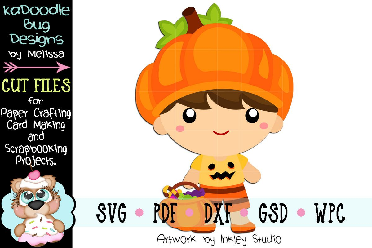 Pumpkin Boy Cutie Cut File - SVG PDF DXF GSD WPC example image 1