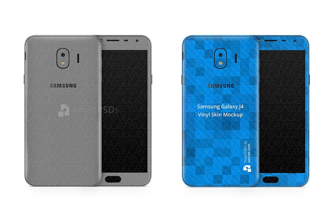 Samsung Galaxy J4 Vinyl Skin Design Mockup 2018 example image 1