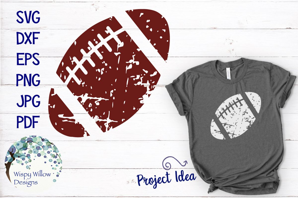 Distressed Grunge Football | Sports SVG example image 1