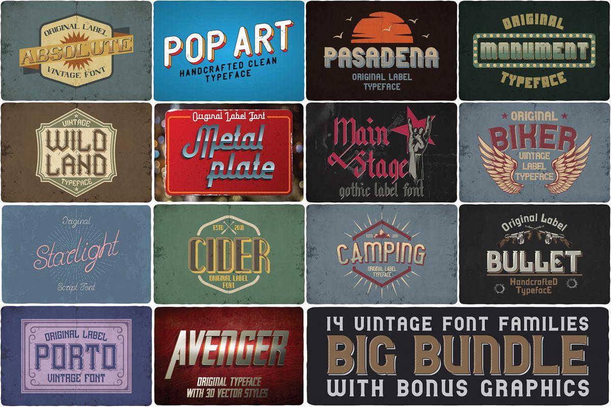Big Bundle - 14 more fonts! example image 1