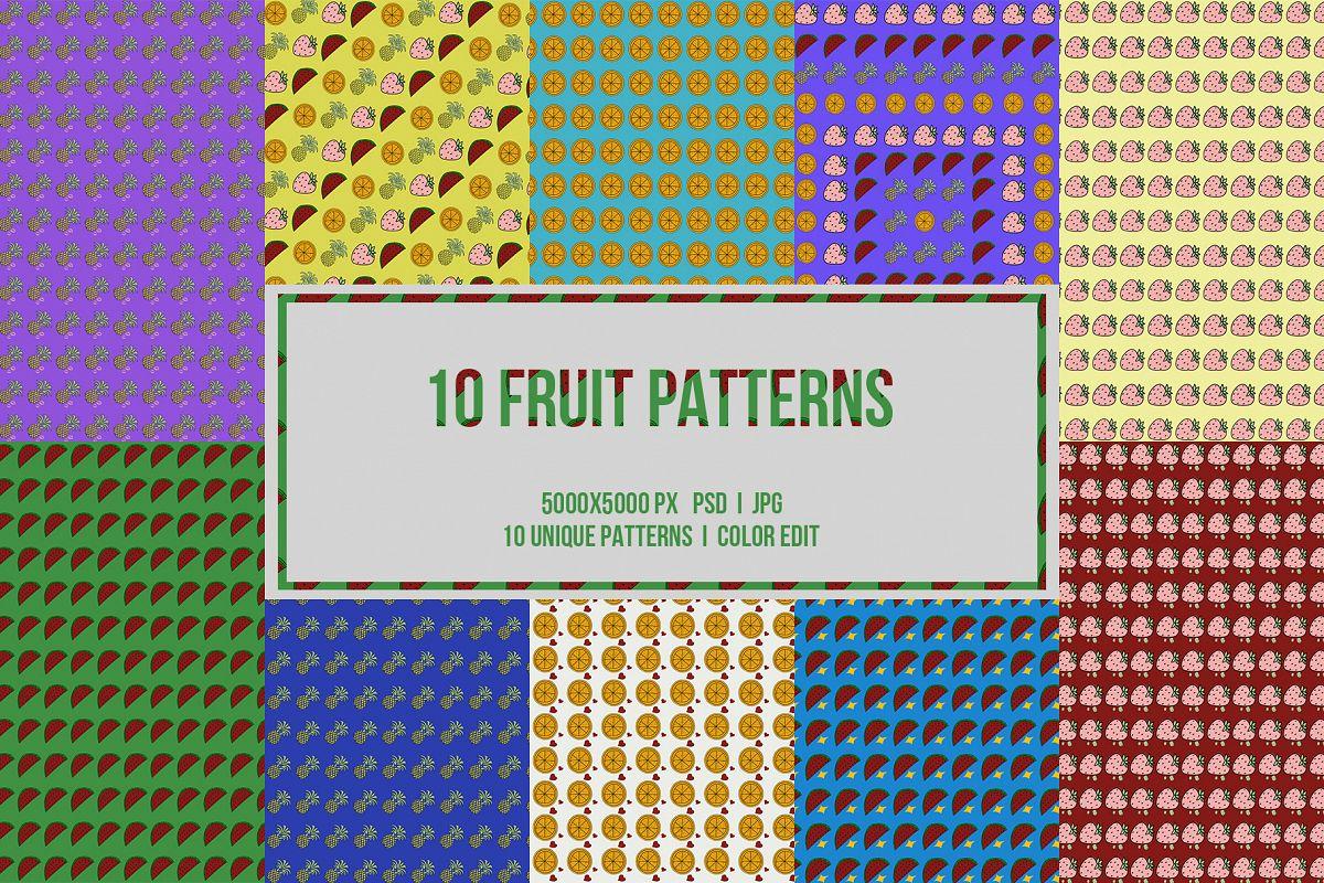 10 Fruit Patterns example image 1