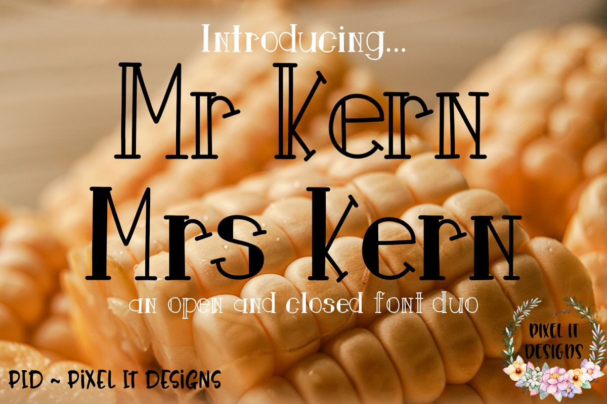 Mr and Mrs Kern An Open And Closed Font Duo example image 1