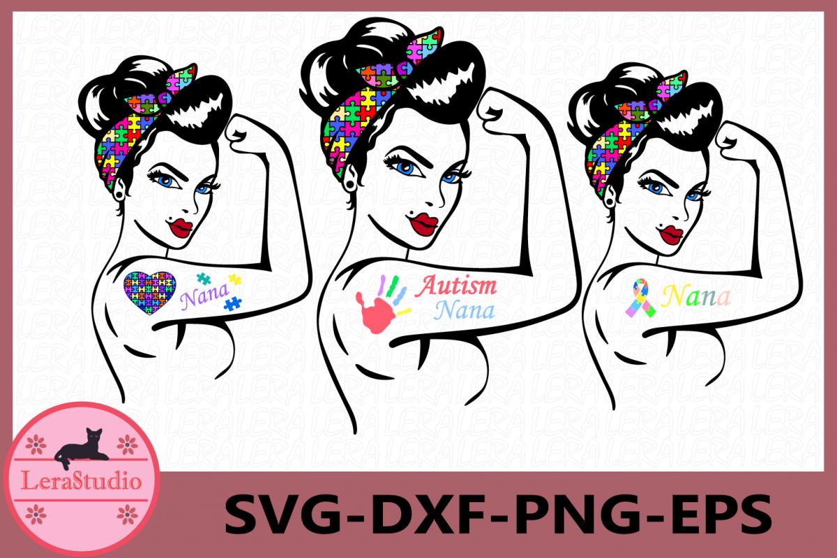 Autism Nana SVG, Mom Svg, Autism Svg, Mama SVG example image 1
