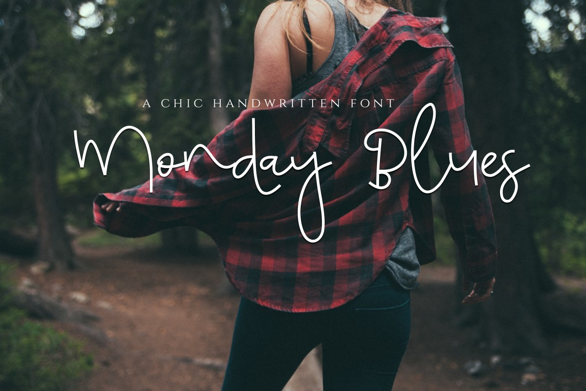 Monday Blues - Chic Handwritten Font example image 1