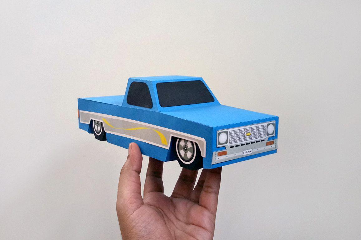 DIY Papercraft Pickup TruckLowrider TruckChevy Truckvintage CarOrigami