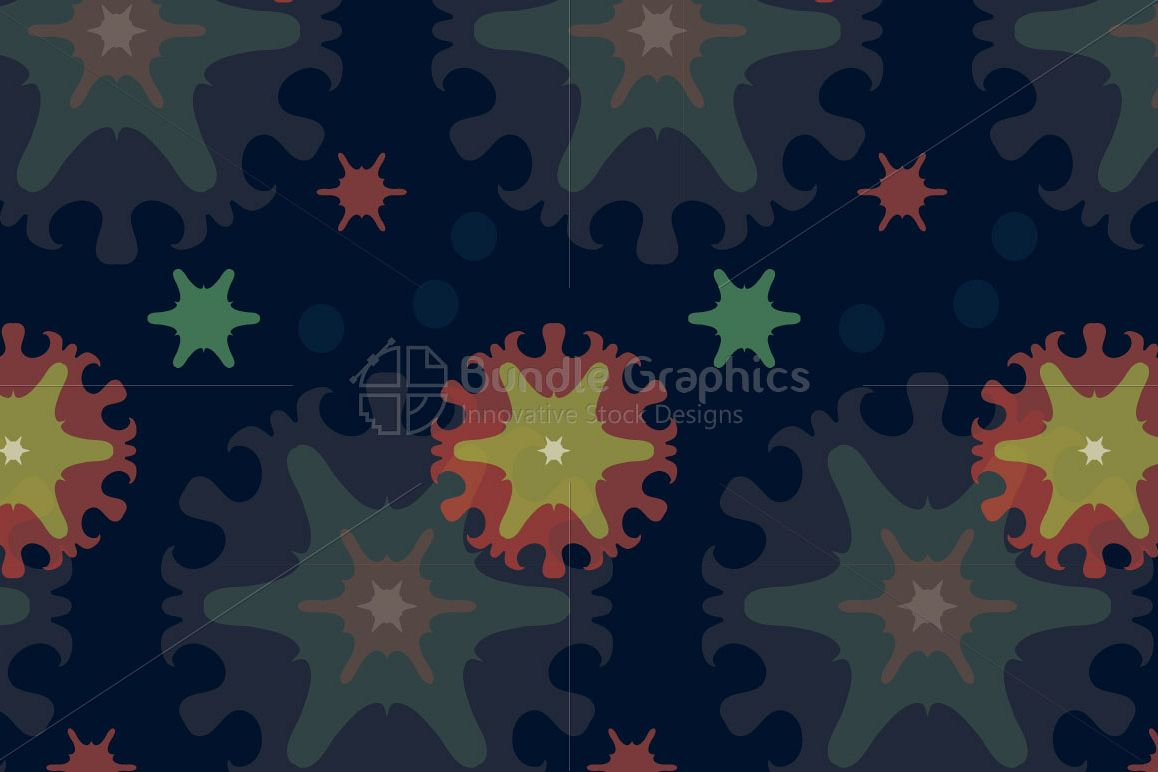 Snow Flakes - Creative Seamless Colorful Background example image 1