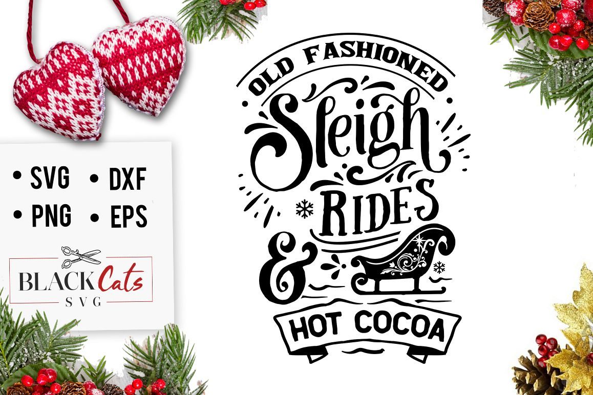 Old fashioned Sleigh Rides SVG example image 1