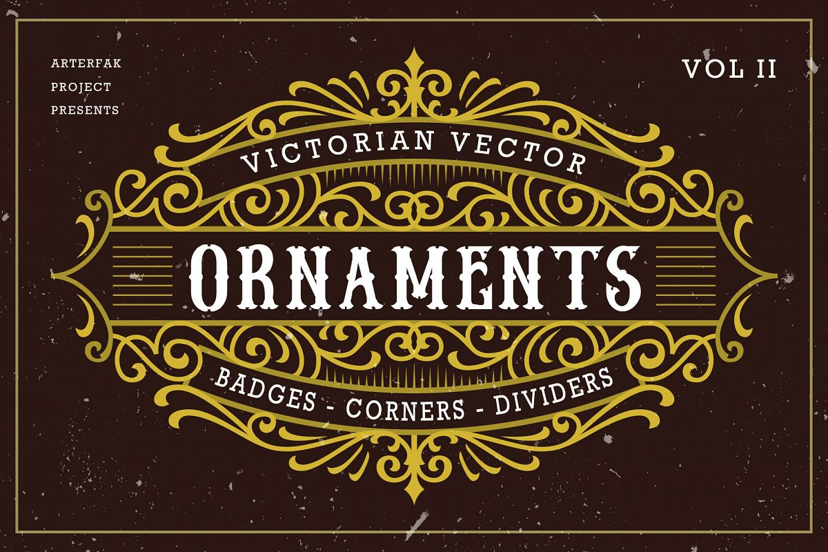 Victorian Vector Ornaments Vol II example image 1