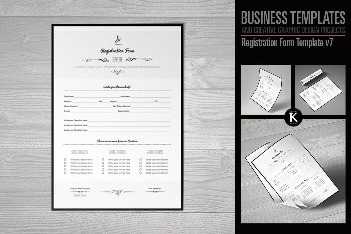 Registration Form Template v7 example image 1