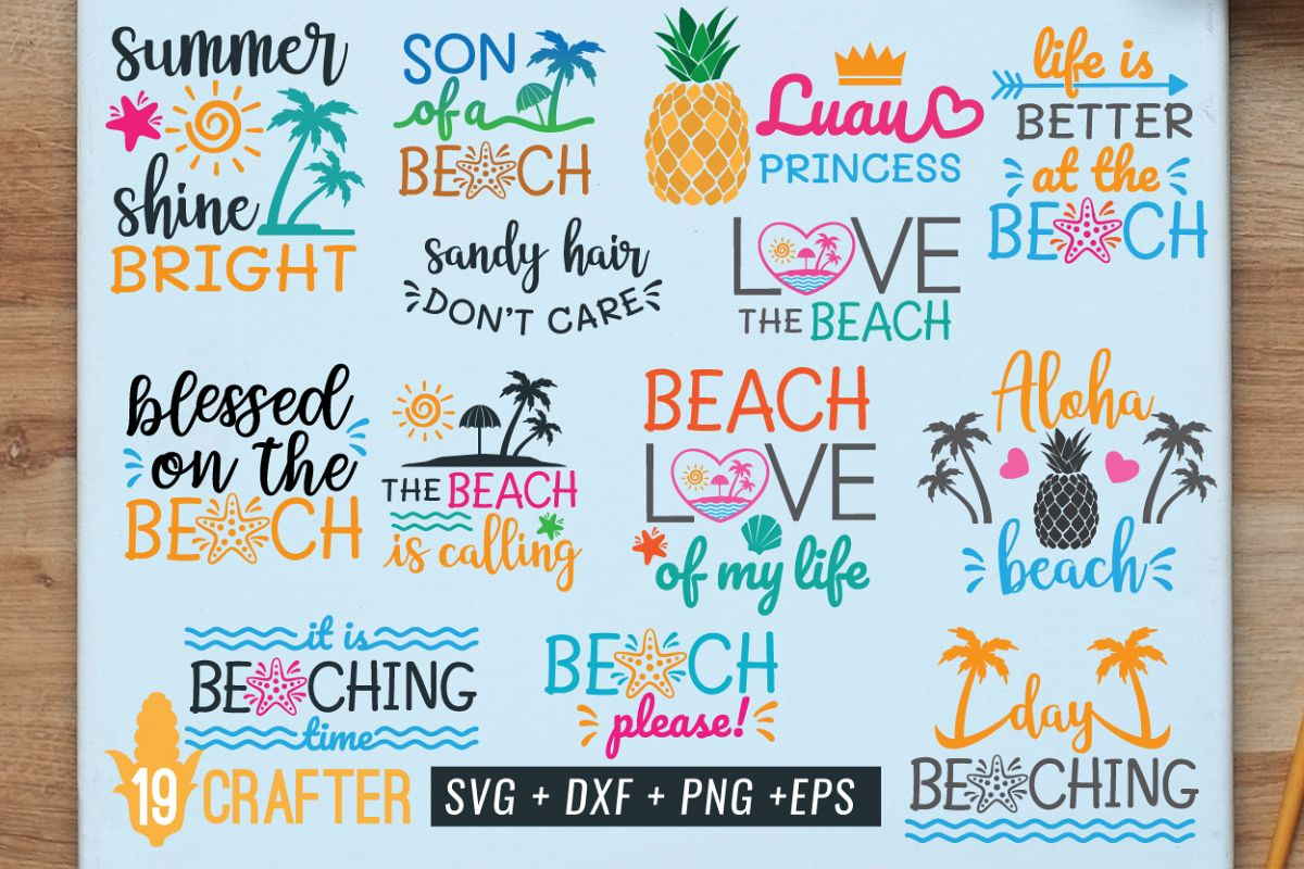 summer in the beach svg the best value bundle example image 1