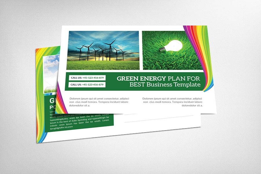Green Energy Business Postcard example image 1