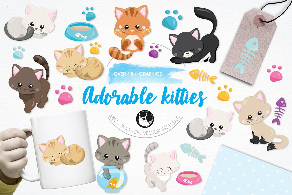 Adorable Kitties graphics and illustrations example image 1