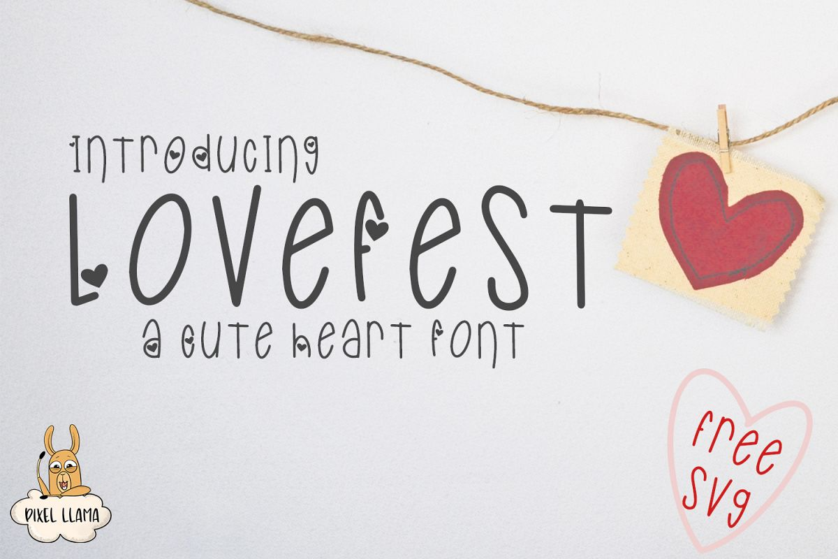 LoveFest A Cute Heart Font example image 1