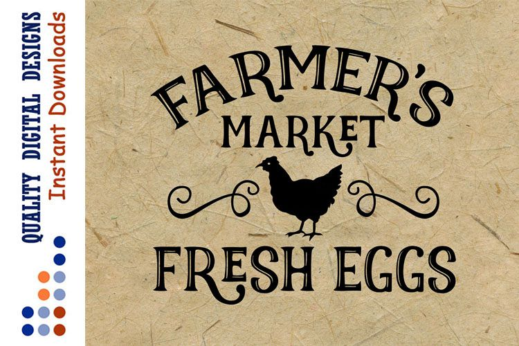 Farmer's Market svg Farm Fresh Eggs SVG example image 1