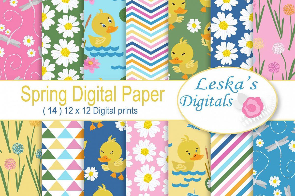 Spring Digital Paper example image 1