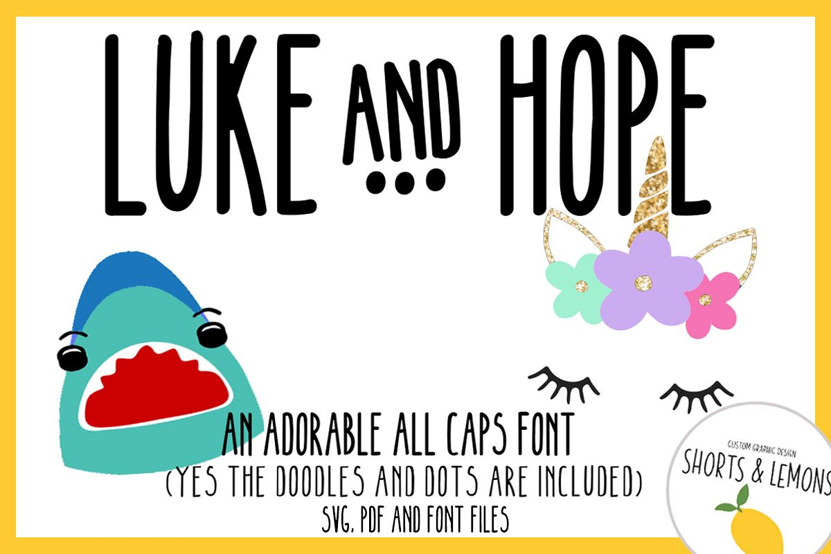 Luke and Hope Font plus DOODLES example image 1