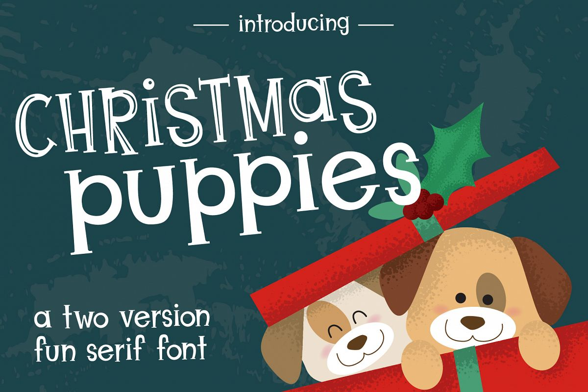Christmas Puppies Font Pair example image 1