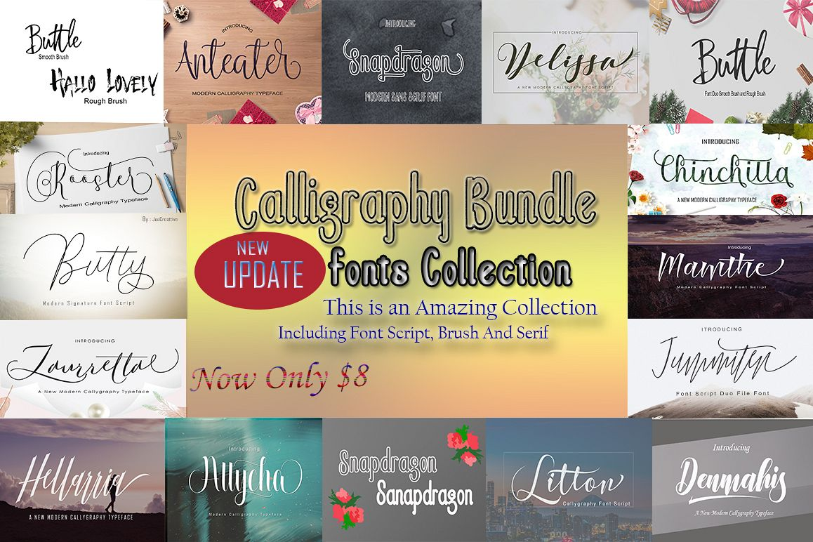Calligraphy Font Bundles example image 1