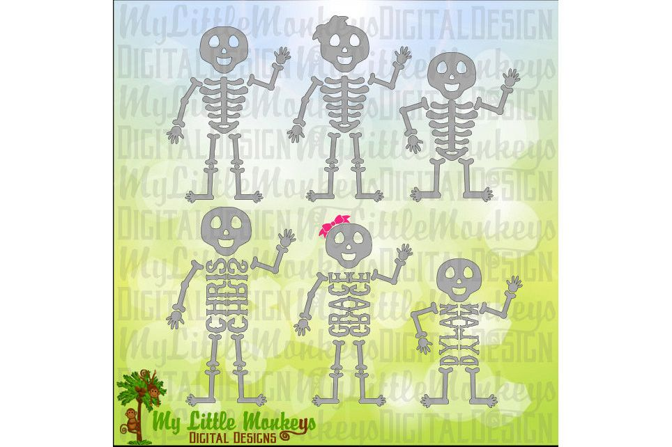 Skeleton family Easy to Personalize example image 1
