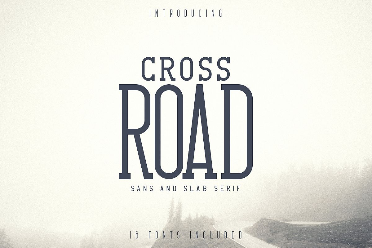 Crossroad -Vintage typeface|16 fonts example image 1