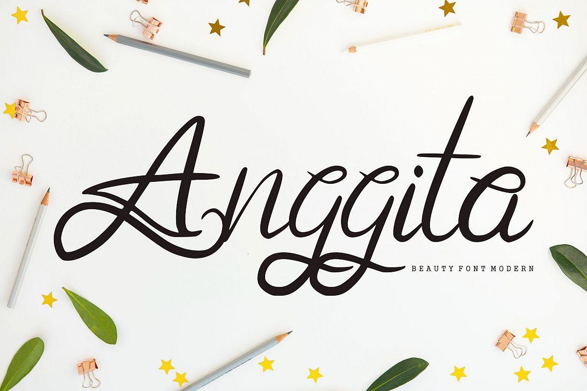 Anggita | Beauty Modern Font example image 1