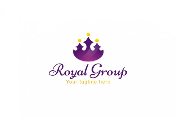 Royal Group - Abstract Crown Shape with Studs as Human Icons example image 1