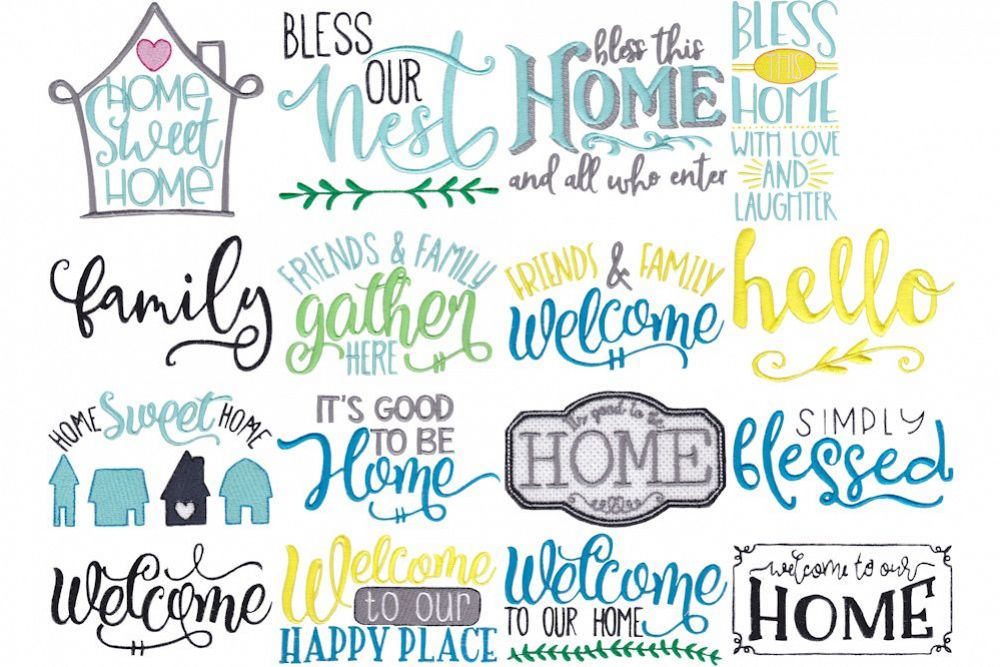 Home Sweet Home 16 Machine Embroidery Designs