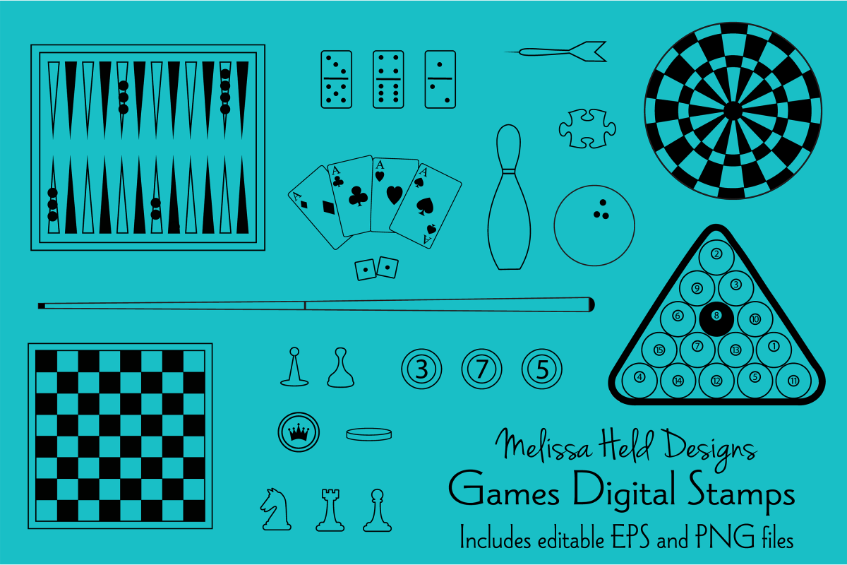 Games Digital Stamps Clipart example image 1