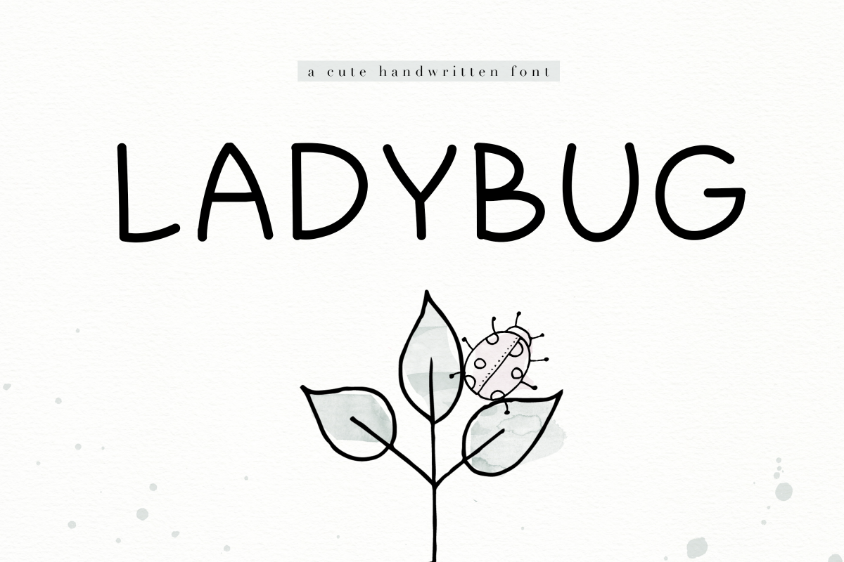 Ladybug - A Cute Handwritten Font example image 1