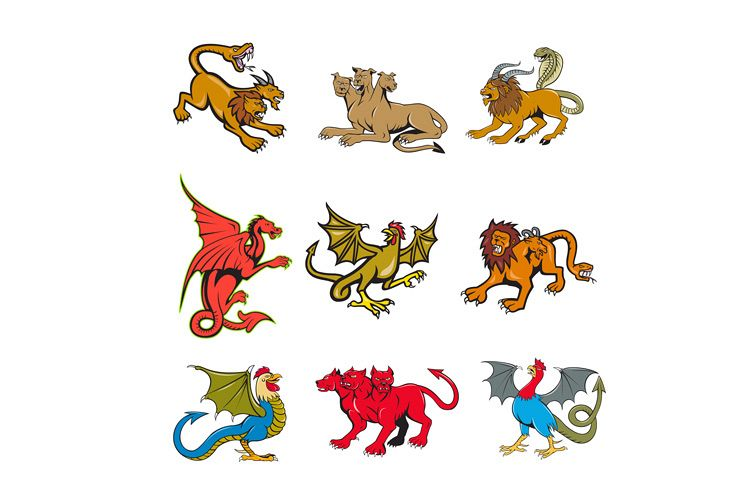 Mythical Creature Mascot Set example image 1