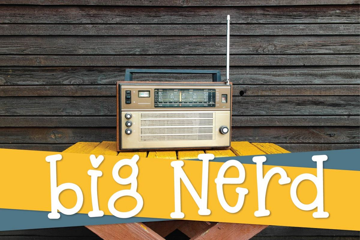 Big Nerd - A Silly Hand Lettered Serif Font example image 1