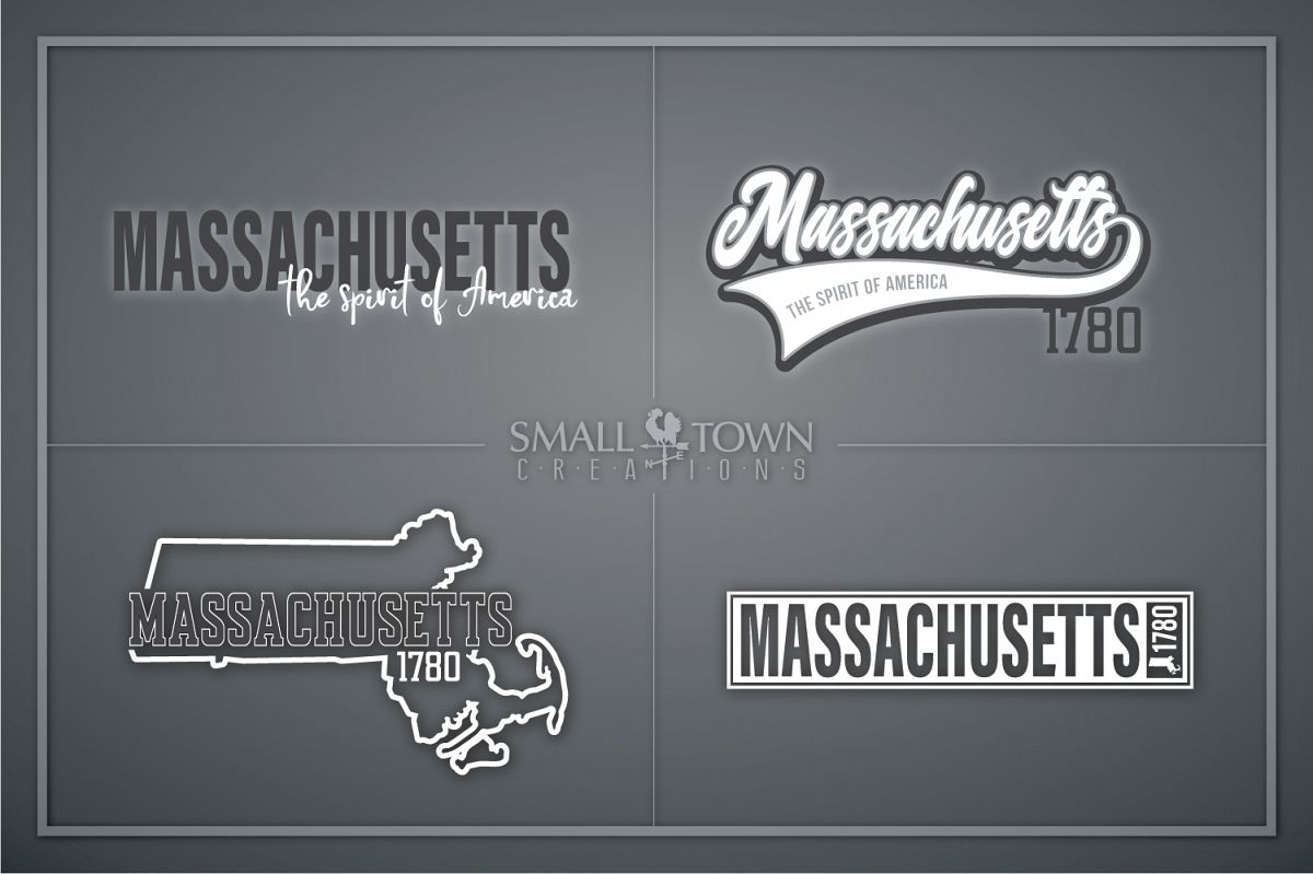 Massachusetts, Spirit of America, Logo, PRINT, CUT & DESIGN example image 1
