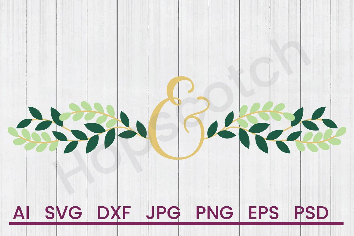 Wedding Ampersand SVG, DXF File, Cuttatable File example image 1