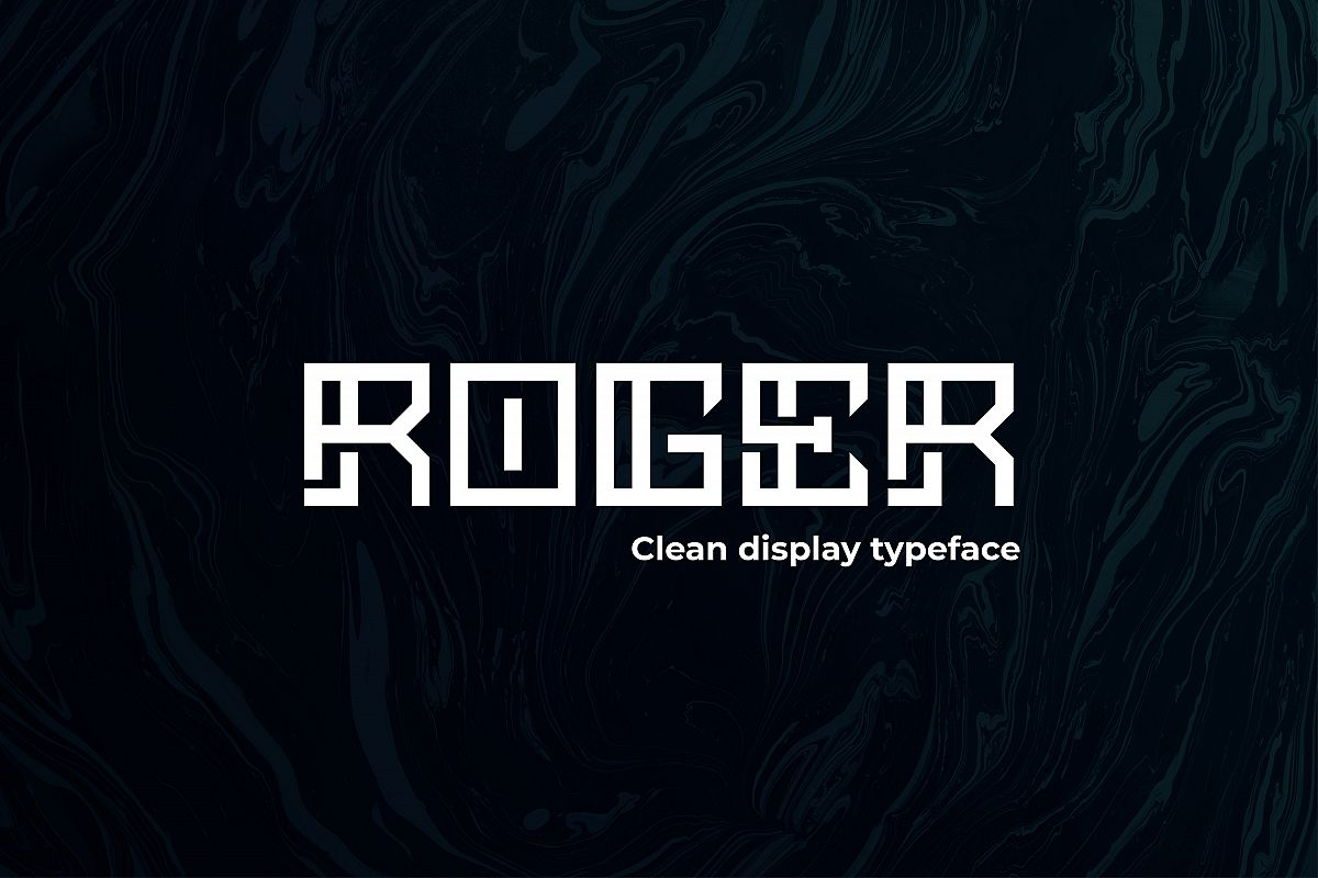 ROGER - Display typeface example image 1