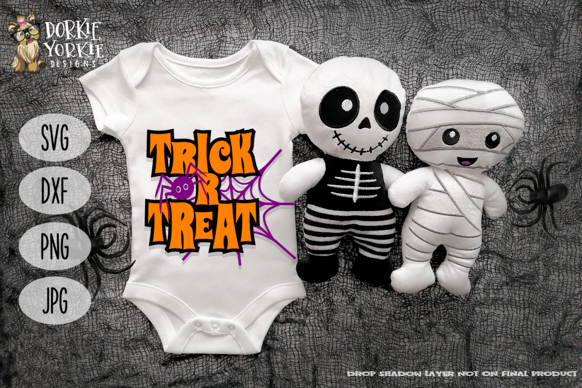 Trick or Treat - Halloween - Spider, Web - SVG Cut File example image 1