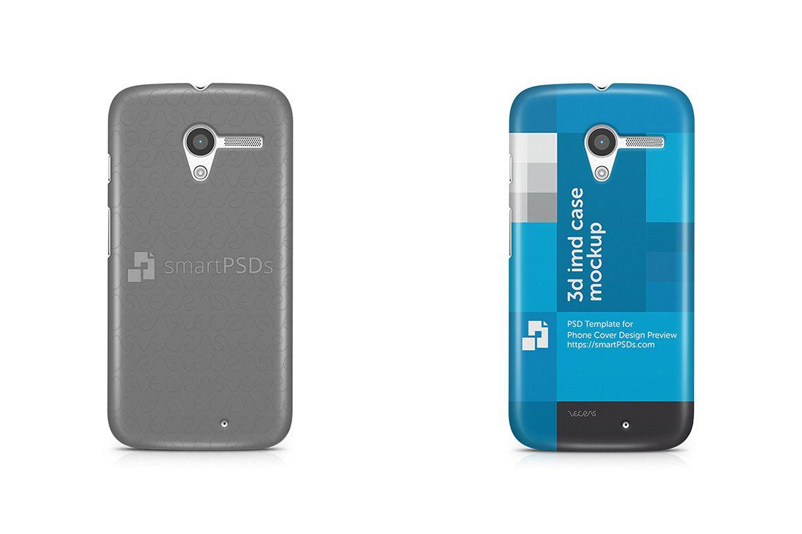 Motorola Moto X 3d IMD Mobile Case Design Mockup 2014 example image 1