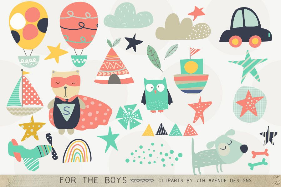 For the Boys Cliparts example image 1