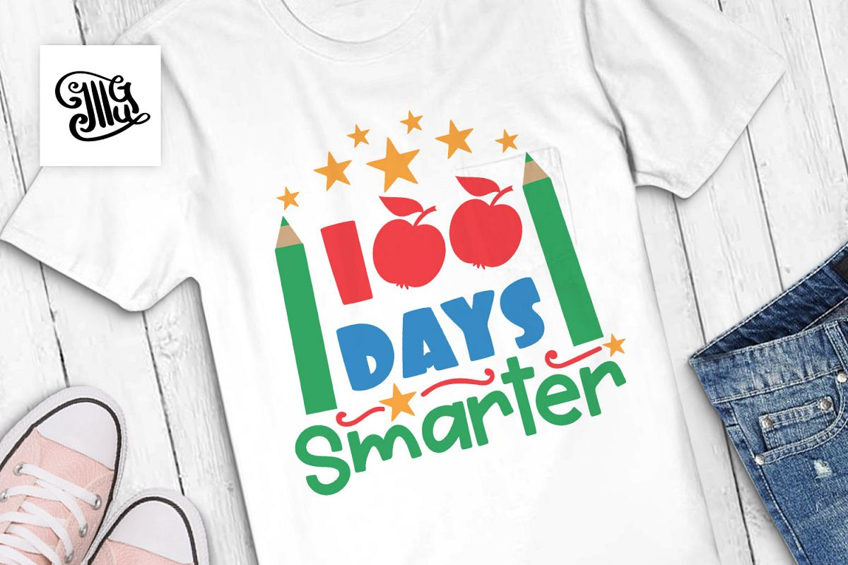 100 days smarter svg example image 1